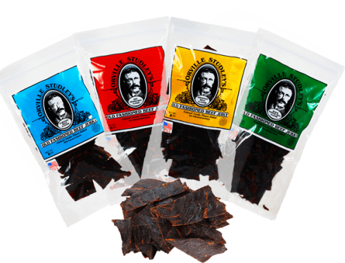 4 Beef Jerky Bags and Beef Jerky (1)